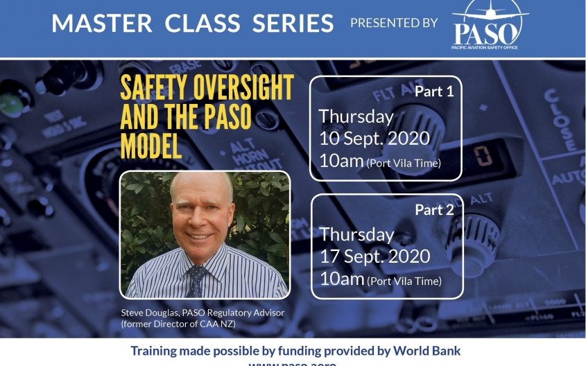 The PASO Master Class Series provides virtual technical training opportunities for Member States