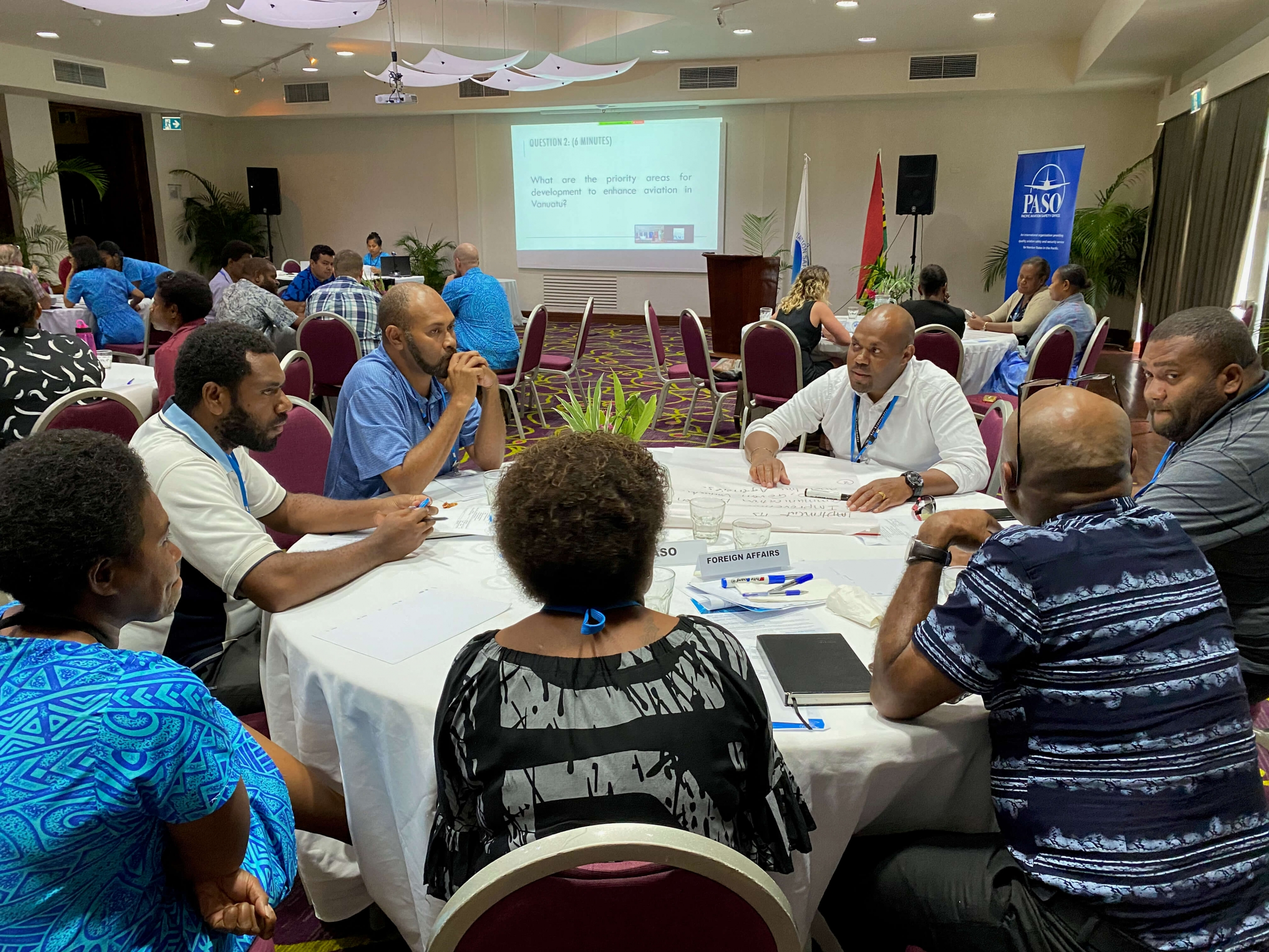 Participants at the Vanuatu aviation industry workshop discussed building a stronger and safer aviation industry. Credit: PASO.aero