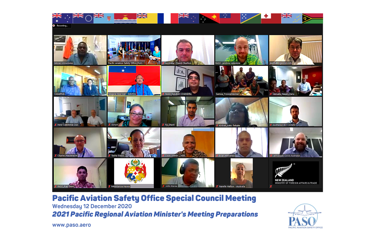 Regional preparations are underway for a virtual Regional Aviation Minister's Meeting (RAMM) in April 2021. Credit: paso.aero