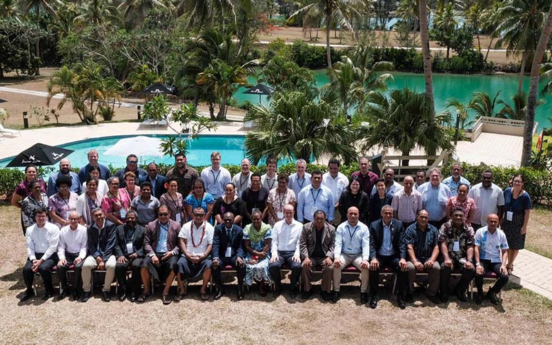 Pacific Aviation Safety Office (PASO) Council Members and international delegates at the December 2019 PASO Council of Directors Meeting in Port Vila. Credit: paso.aero